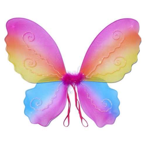 Butterfly wing: costume for girls - Rainbow