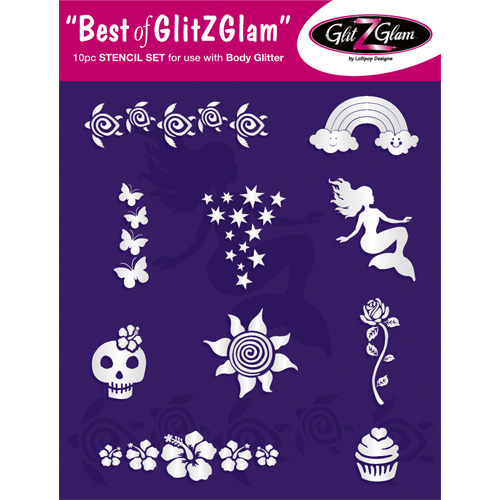 Best of GlitZGlam Stencil Set