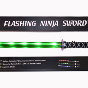 Ninja Sword LED (Light up) with Sounds  - Green