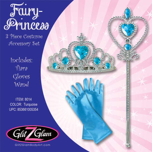 Princess Costume / Fairy Costume 3-Piece Accessory Set -Turquoise