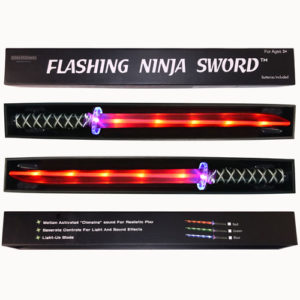 Ninja Sword - Toy Sword Light-Up (LED) 2 PACK RED