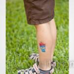 skull glitter tattoo