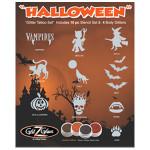 Halloween-Glitter-Tattoo-Stencils and glitter Set