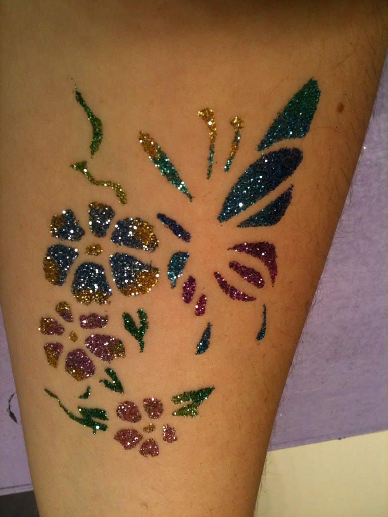 creative glitter tattoo