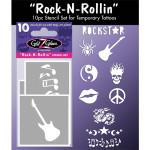 Temporary Tattoo Stencil - Rock-N-Rolling Tattoo Designs