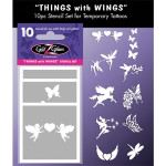 Temporary Tattoo Stencil Things with Wings Tattoo Designs