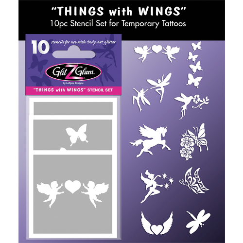 Things with Wings Tattoo Stencil Set