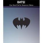 """""""Bats!"""" 10 Tattoo Stencils for Glitter Tattoos"""