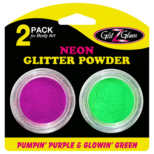 Glitter 2-Pack Neon Pumpin' Purple & Glowin' Green