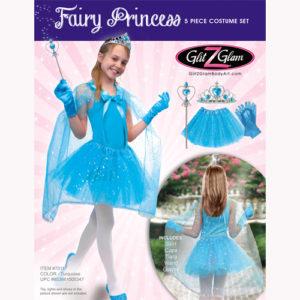 Princess Costume / Fairy Costume 5-Piece Set-Turquoise