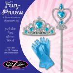 Princess Costume / Fairy Costume 3-Piece Accessory Set -Turquoise