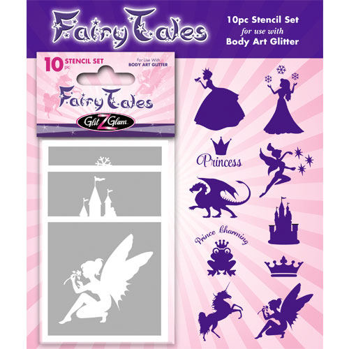 Fairytales Temporary Tattoo Stencil Set for body art