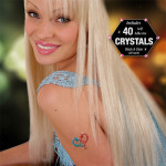 GirlZ Night Out Glitter Tattoo Kit with 40 Rhinestones