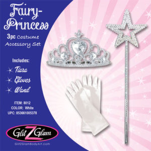 Princess Costume / Fairy Costume 3-Piece Accessory Set -White