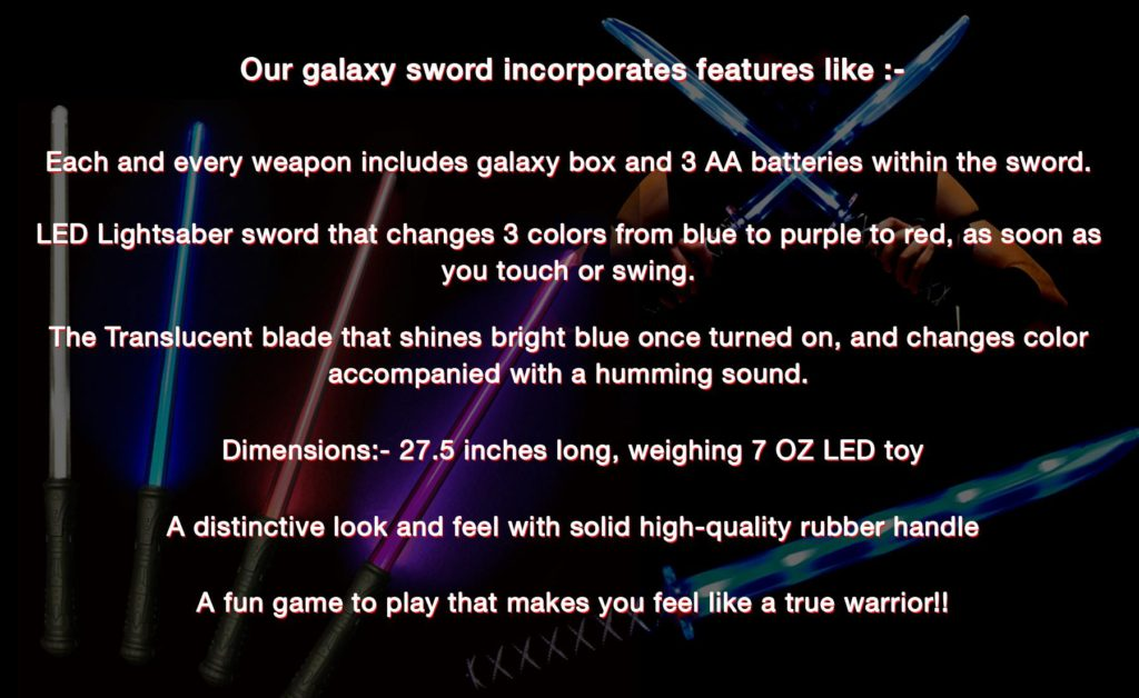 galaxy swords