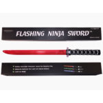 Ninja Sword LED (Light up) - Toy Sword with Motion Sounds  - RED